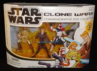 Star Wars Clone Wars Commemorative DVD Collection: Jedi Force Pack - Action Figure 3-Pack  Includes